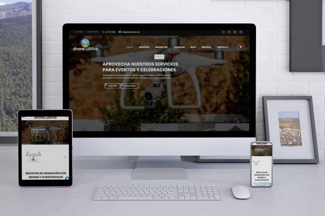 Diseño web drone4drive